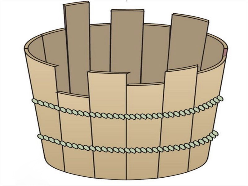 一个圆柱形木桶