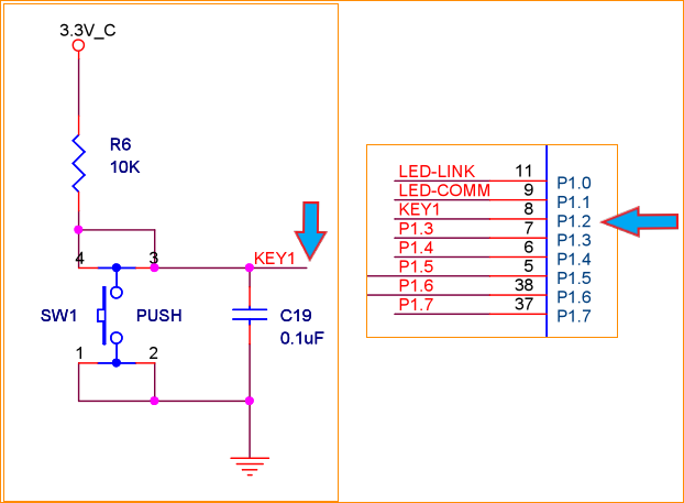 1 新大陆zigbee模块按键电路图 1.2 cc2530相关寄存器 1.
