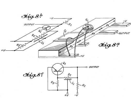 世界上第一个集成电路的原理图