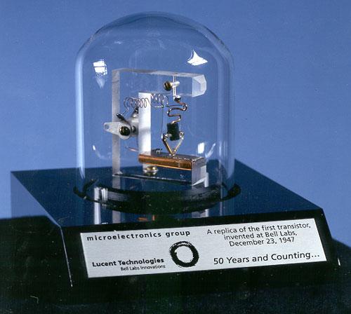 世界上第一支晶体管的复制品