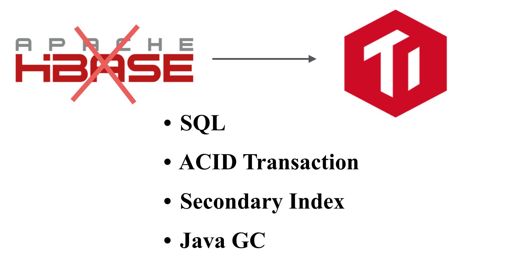 TiDB replace HBase