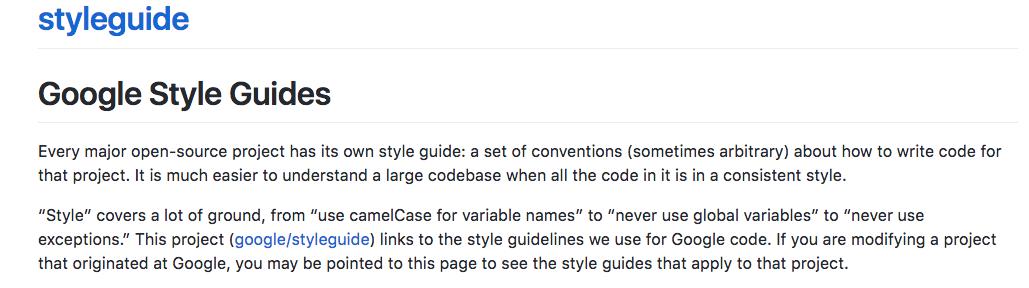 oogle JavaScript Style Guide