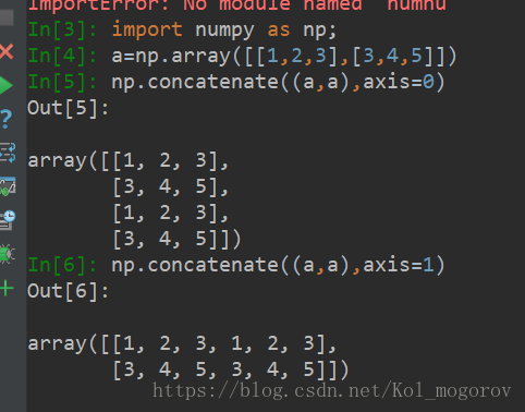 Numpy Concatenate 3d Arrays