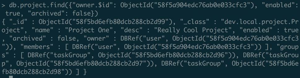 在MongoDB的console查询