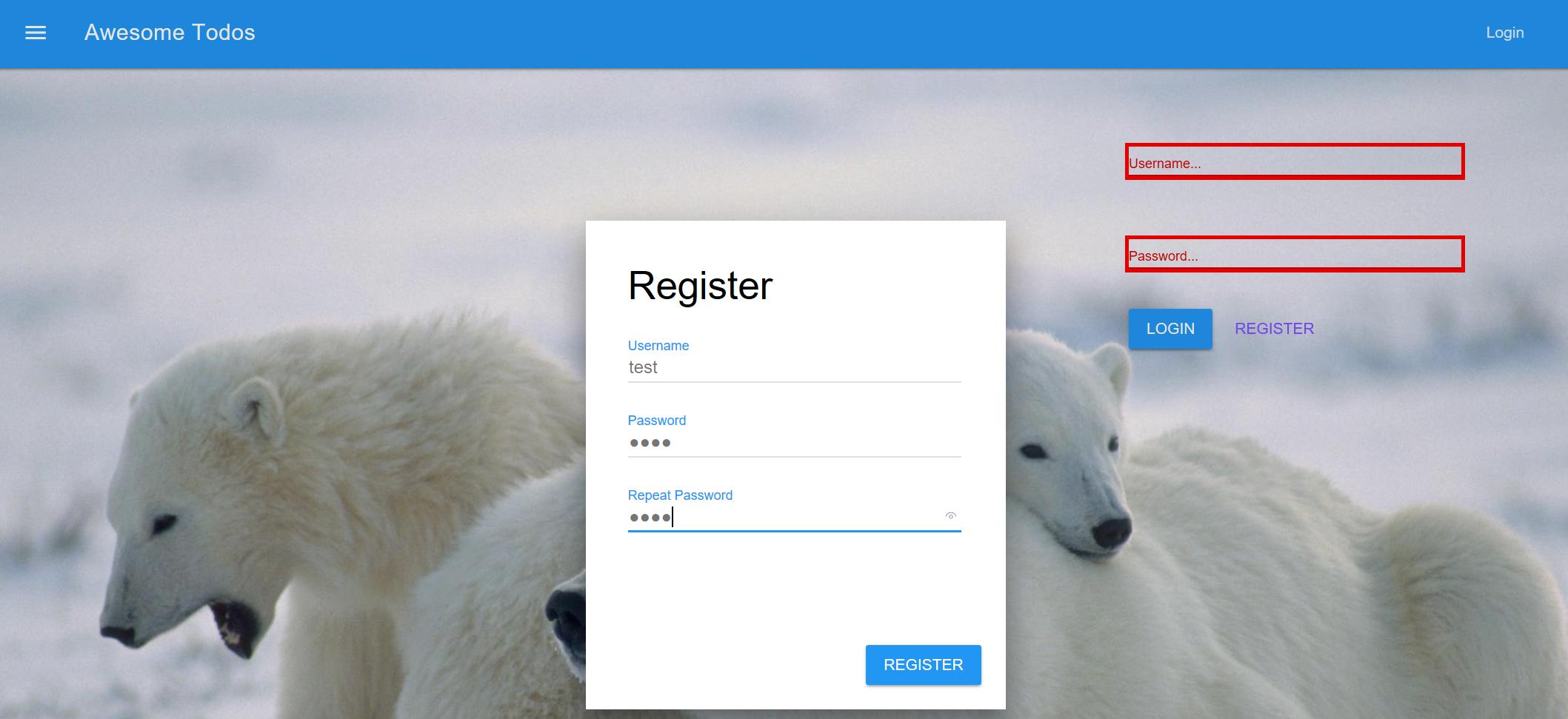 完成注册功能的页面