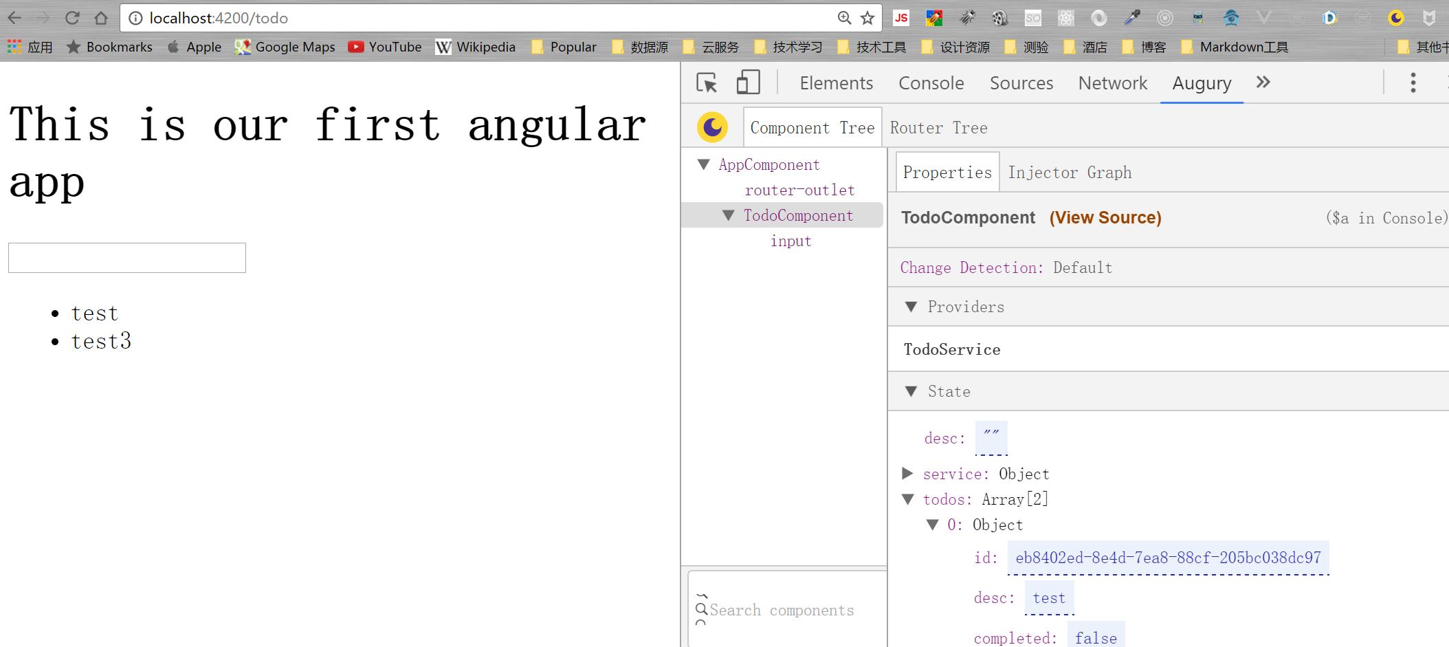 Auguary可以是一个专门针对Angular的Chrome插件