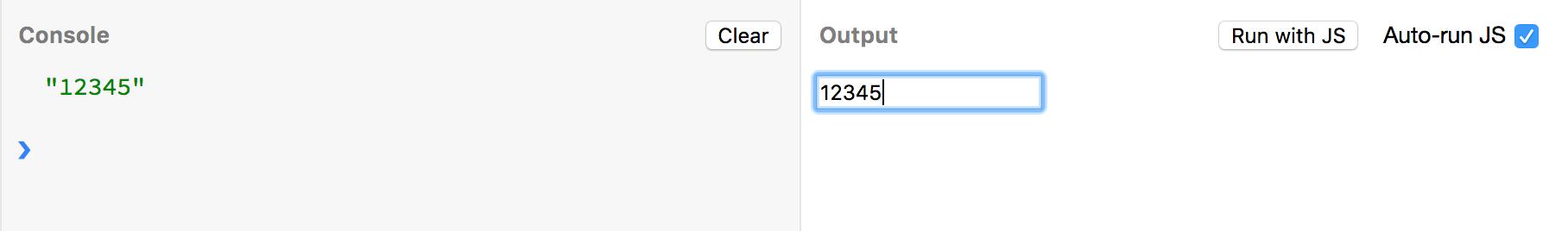 快速输入12345得到一条数据