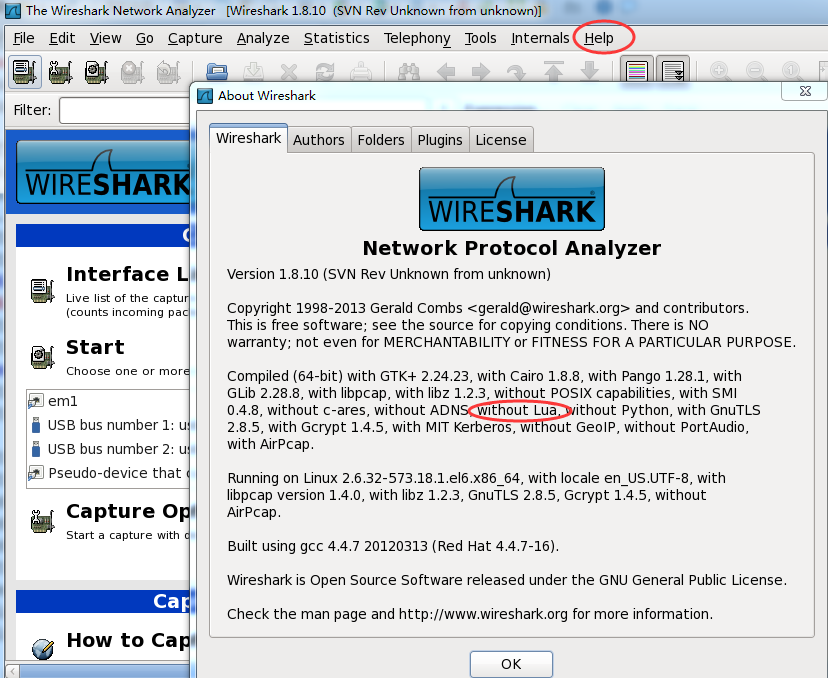 wireshark version information